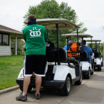 Golf Carts used at the Glass Blown Open